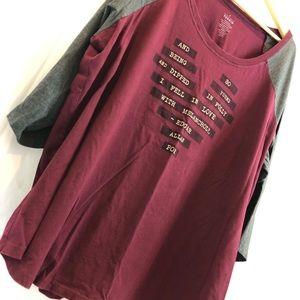 Torrid Edgar Allan Poe top shirt 4 A18